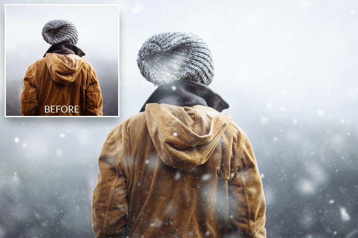 Snow Photoshop Action example image 5