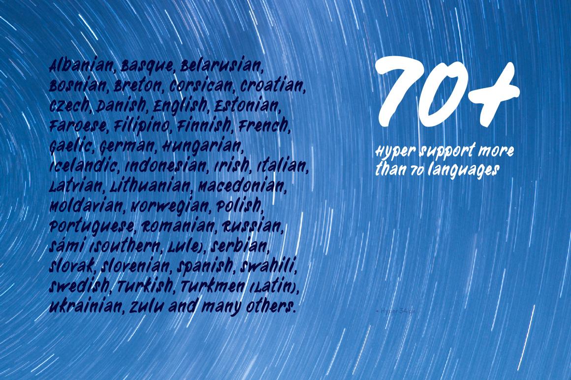 Hyper—handwritten font example image 2