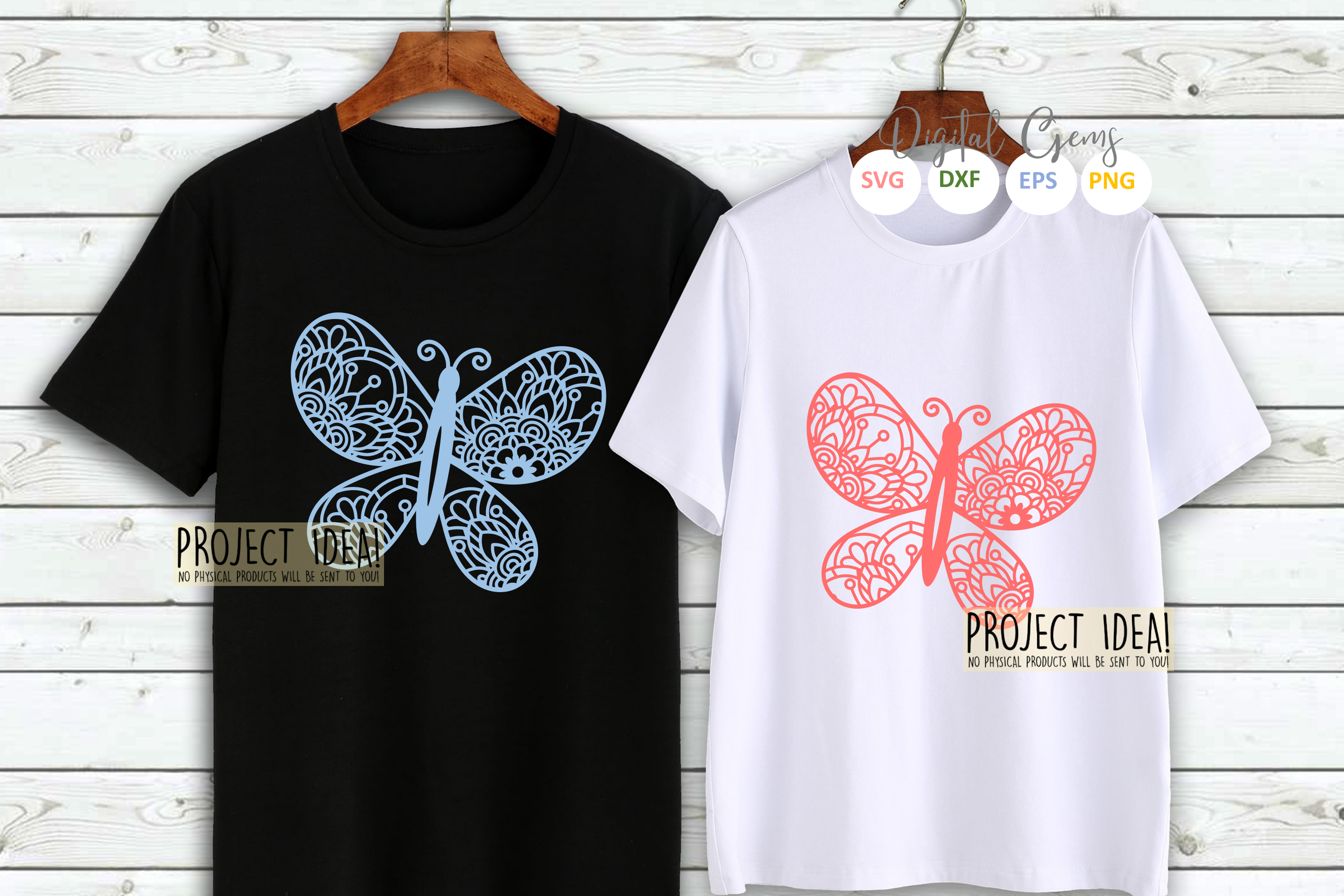 Butterfly paper cut SVG / DXF / EPS / PNG files example image 4