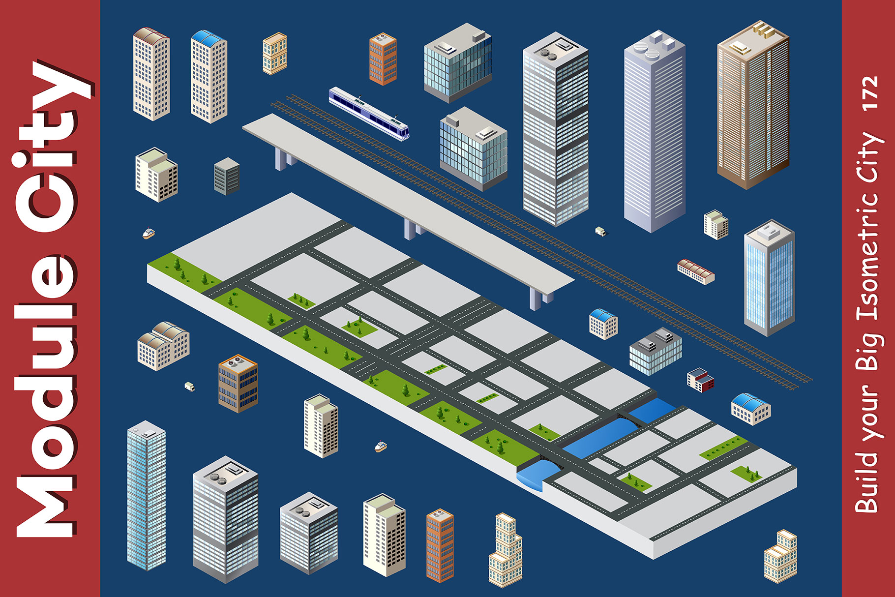 Isometric set module city example image 8