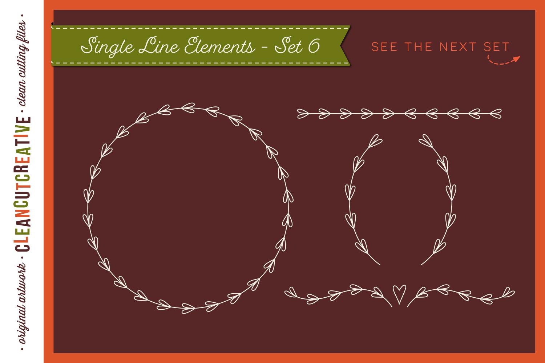 Single Line | Foil Quill | Sketch | Engrave SVG design file example image 8