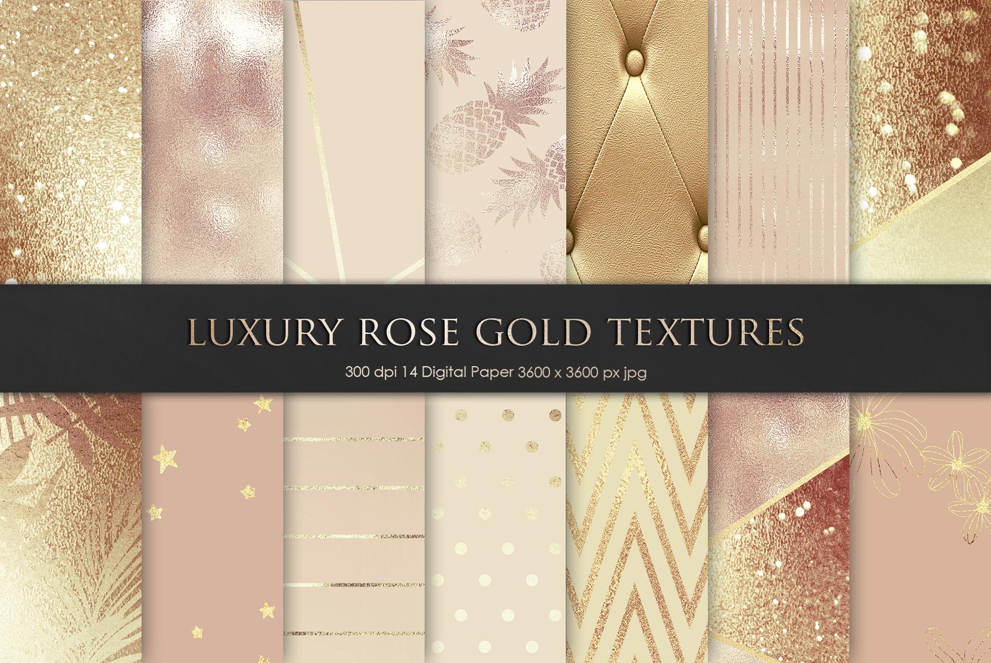 Luxury Rose, Gold, Bronze Textures example image 1
