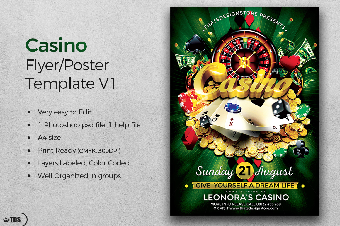 Casino Flyer Template V1 example image 2