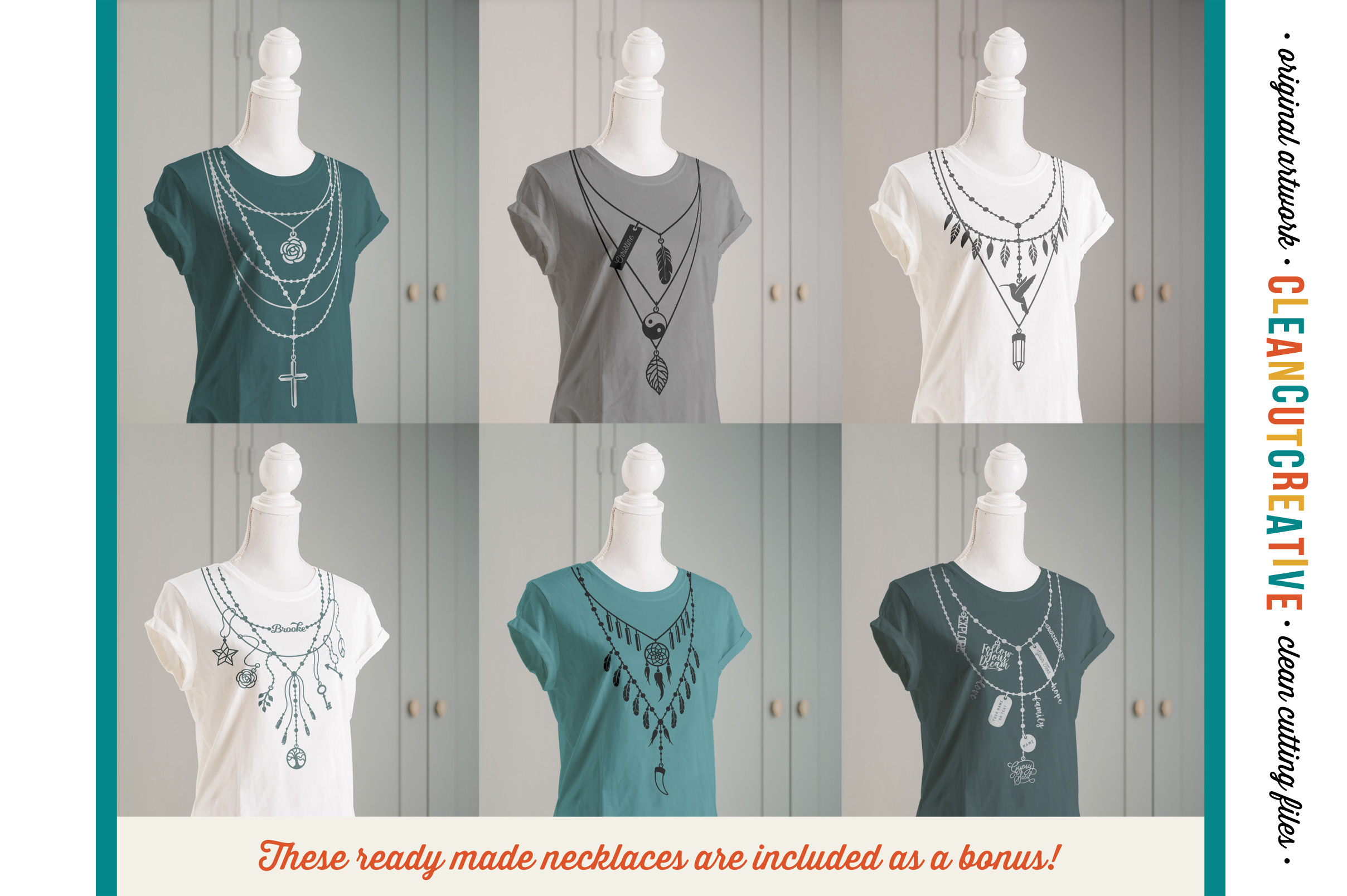 The Nifty NECKLACE TOOLKIT -  DIY Layered Necklace T-shirt Design in Boho/Ibiza Style example image 2