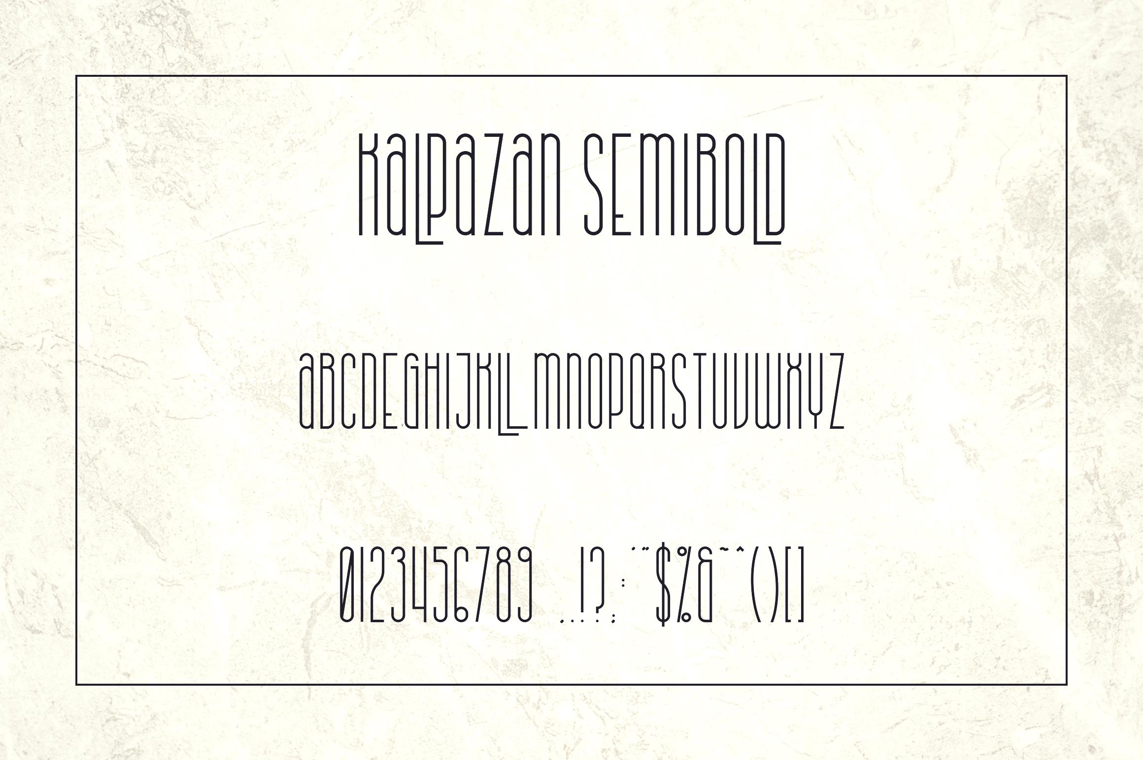 Kalpazan font family example image 10