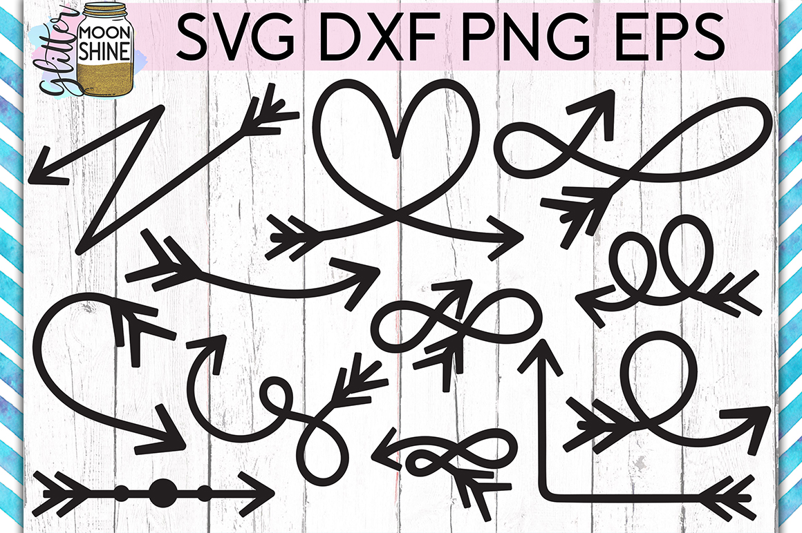 Arrow Bundle of 60 SVG DXF PNG EPS Cutting Files example image 3