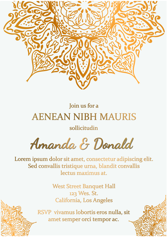 Flyer Wedding Invitation Template example image 3