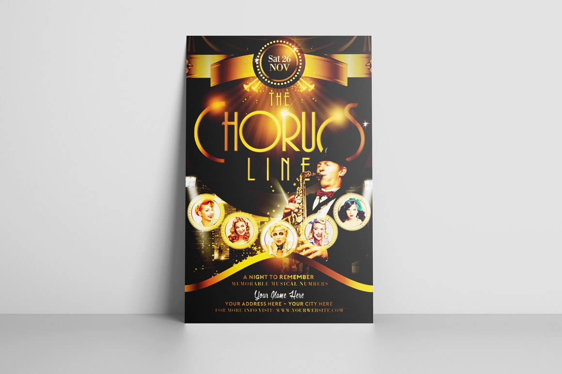 The Chorus Line Flyer Template example image 3