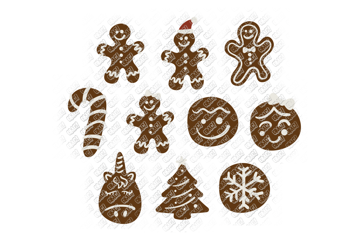 Christmas Cookies SVG Bundle in SVG, DXF, PNG, EPS, JPEG example image 2