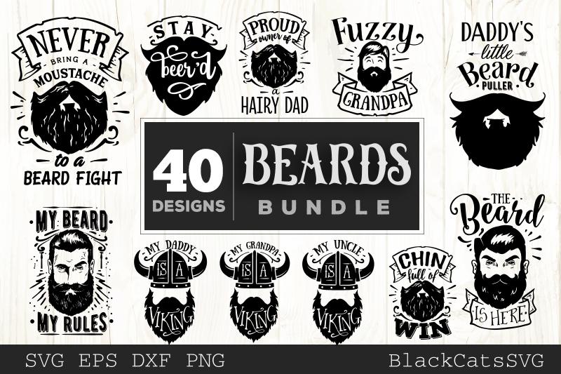 Beards SVG bundle 40 designs example image 4