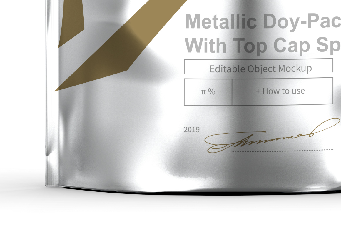 Metallic Doy-Pack With Top Cap Spout example image 4