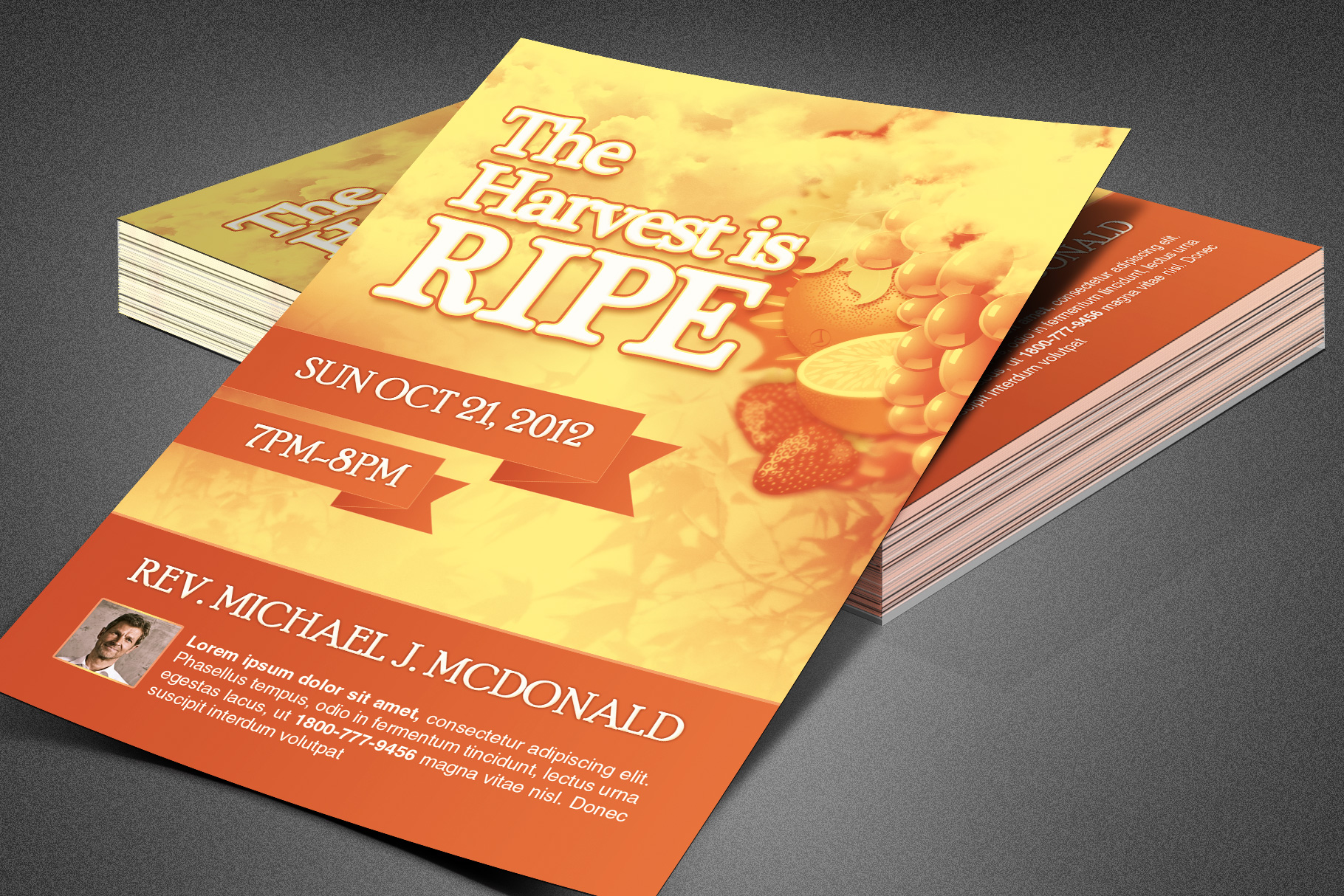 Harvest is Ripe Church Flyer example image 2
