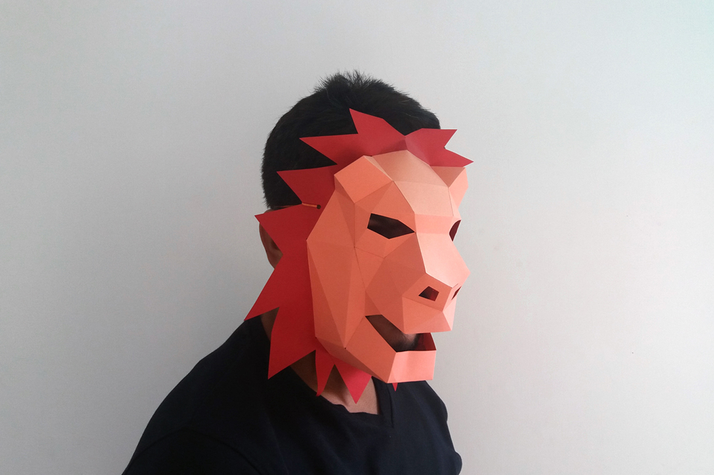 DIY Lion Mask - 3d papercrafts example image 2