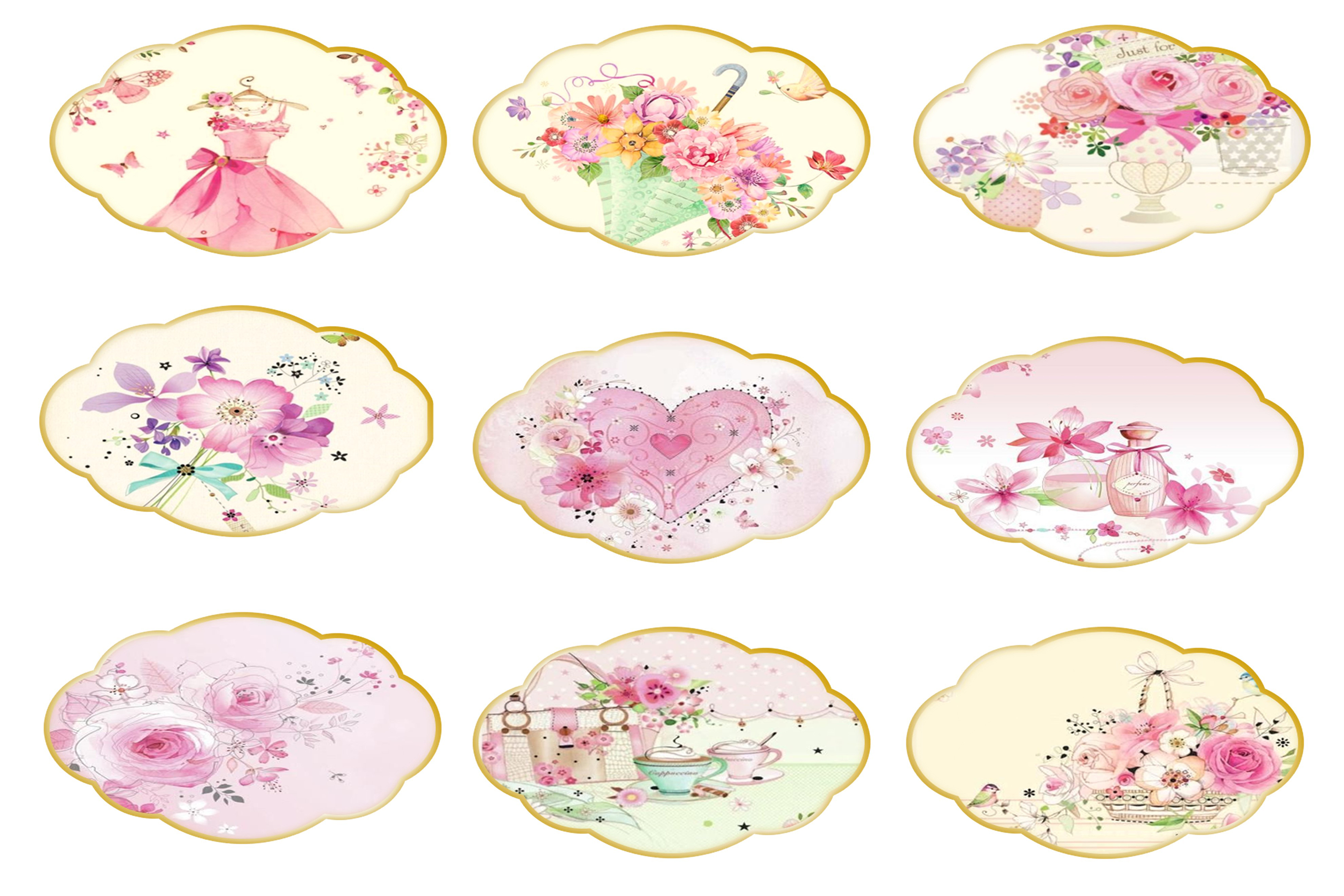 Country Springtime Watercolour Backgrounds, Ephemera &PNG example image 5