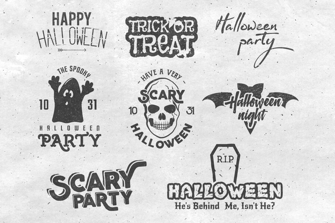 Halloween Badges Set. Vol.2 example image 2