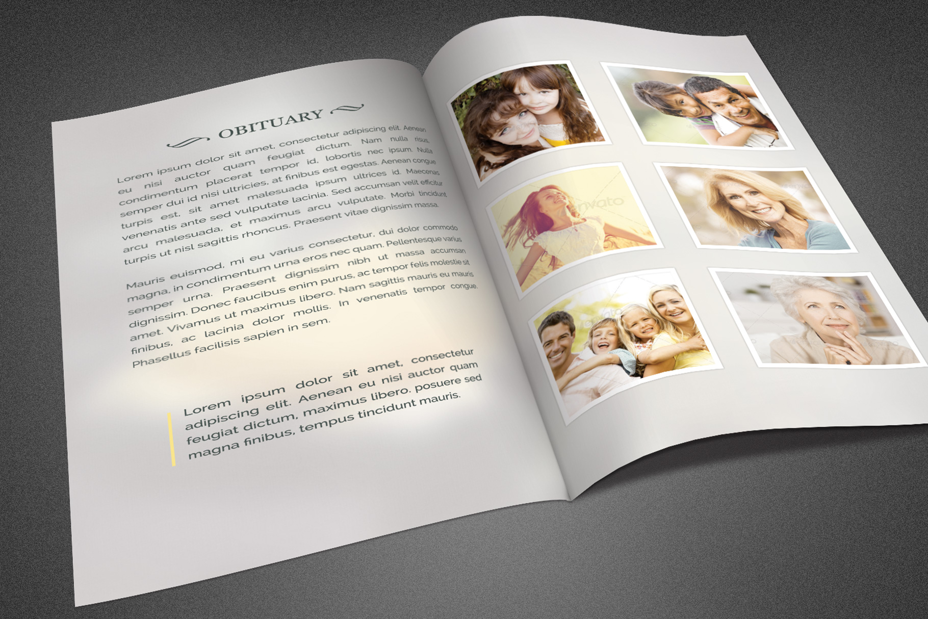 Refresh Funeral Program Template example image 3