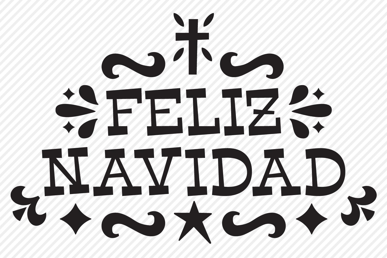 Feliz Navidad SVG, Cut File, Christmas Holiday Shirt Design example image 2