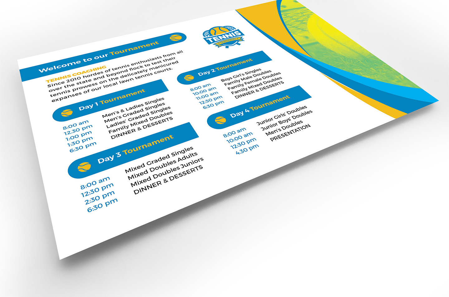 Tennis Event Flyer Template example image 4