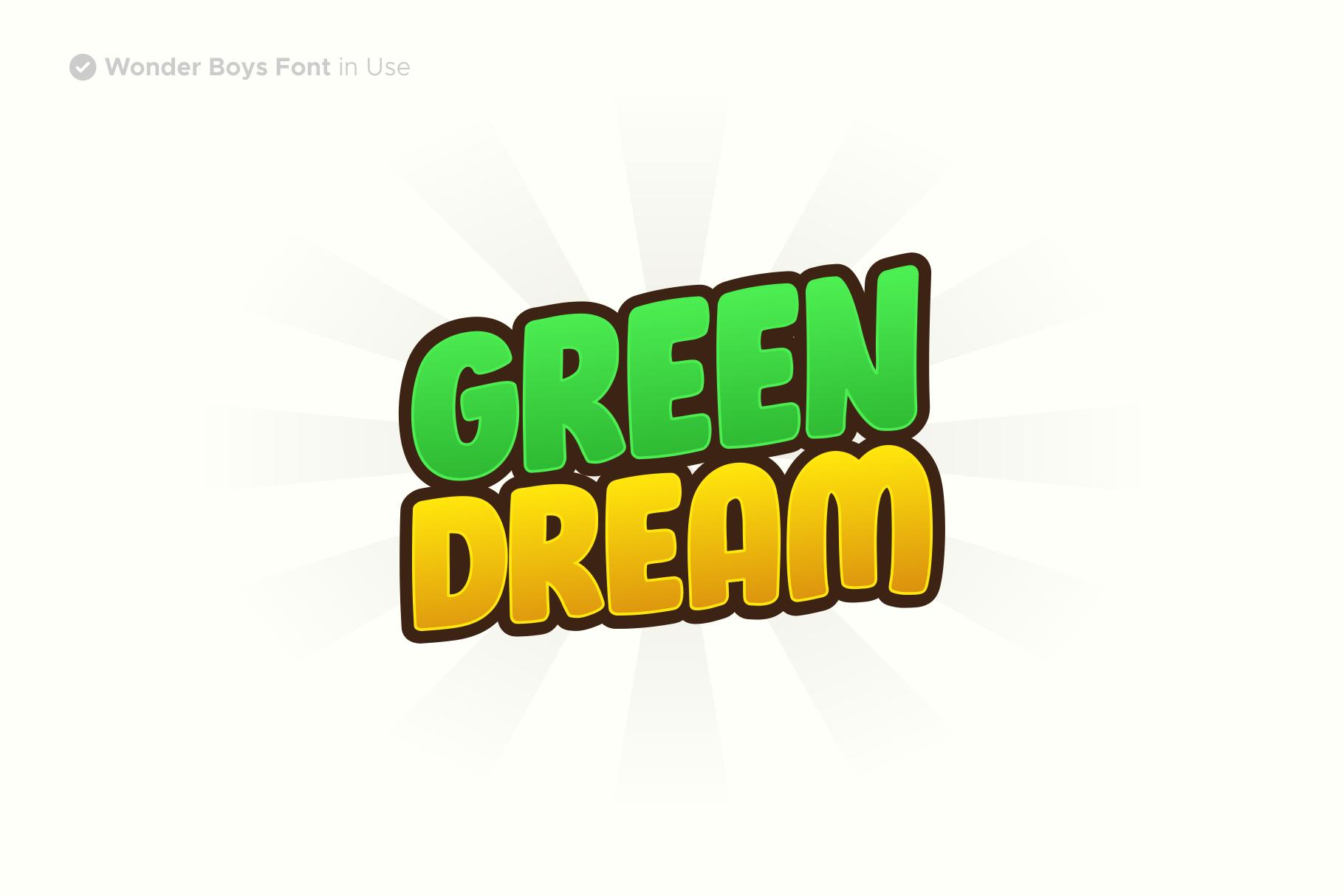 Wonder Boys - Fun Kids Font Display example image 5