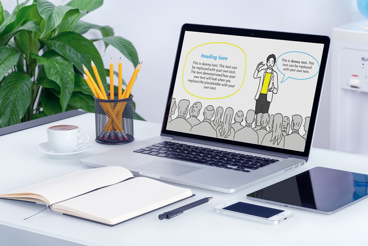 Office Doodle PowerPoint Template example image 5