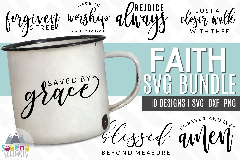 Faith SVG Cut File Bundle example image 1