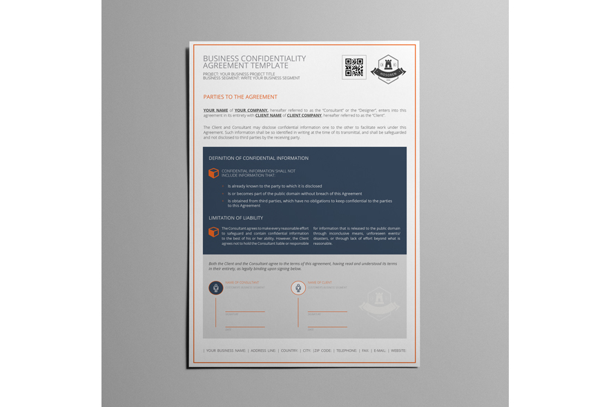 Business Confidentiality Agreement Template example image 5