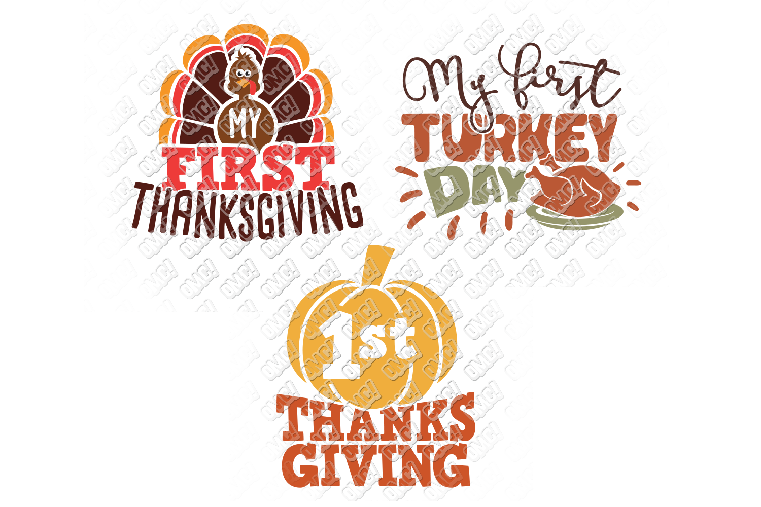 My First Thanksgiving SVG Baby in SVG, DXF, PNG, EPS, JPEG example image 3