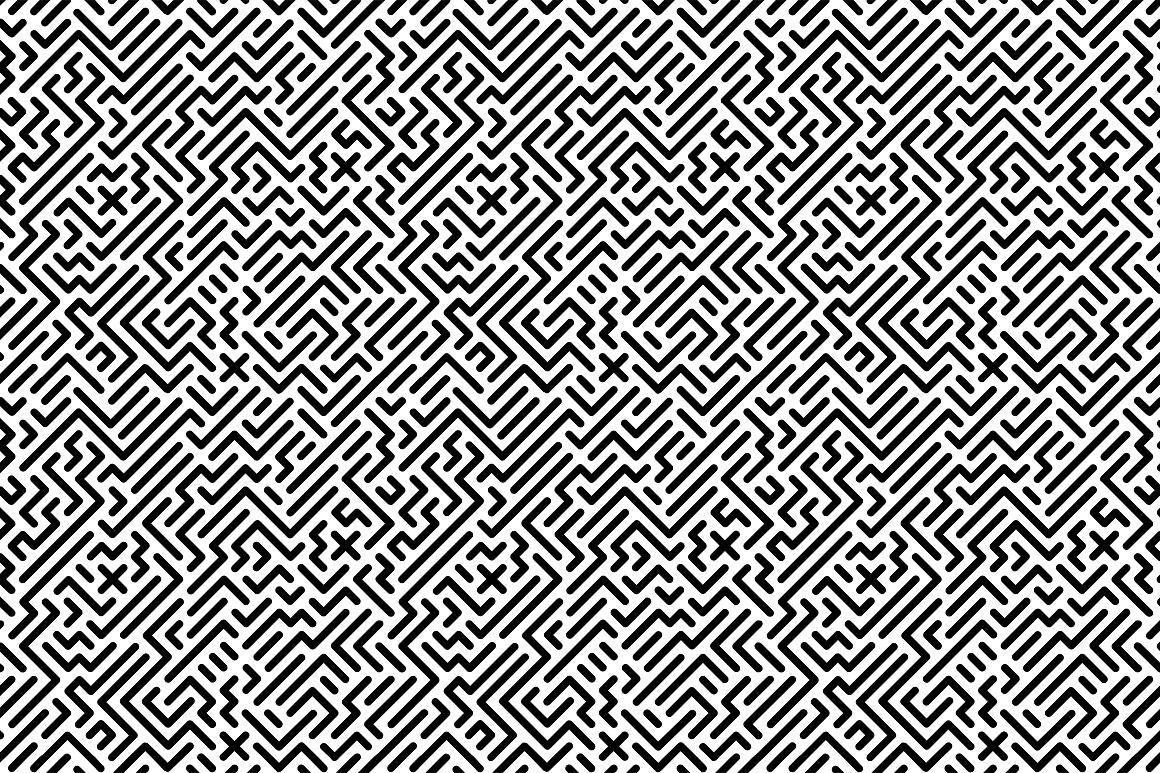 Seamless striped geometric patterns example image 10