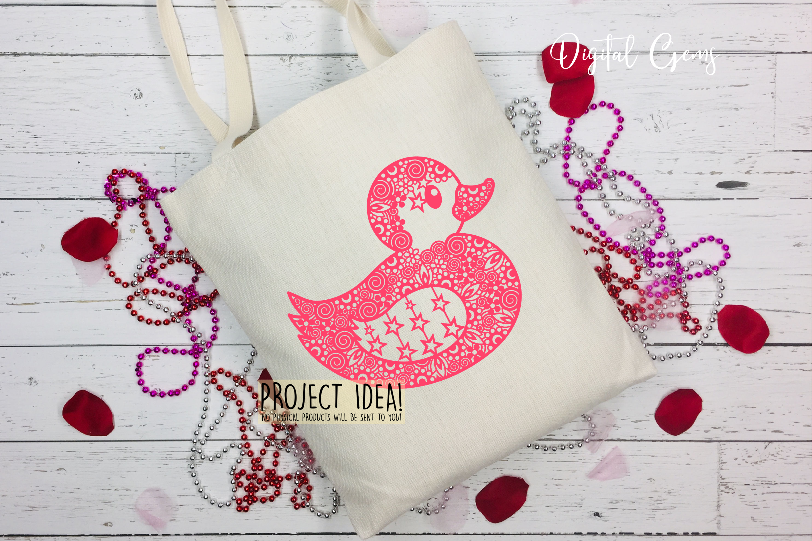 Duck paper cut design. SVG / DXF / EPS / PNG files example image 11