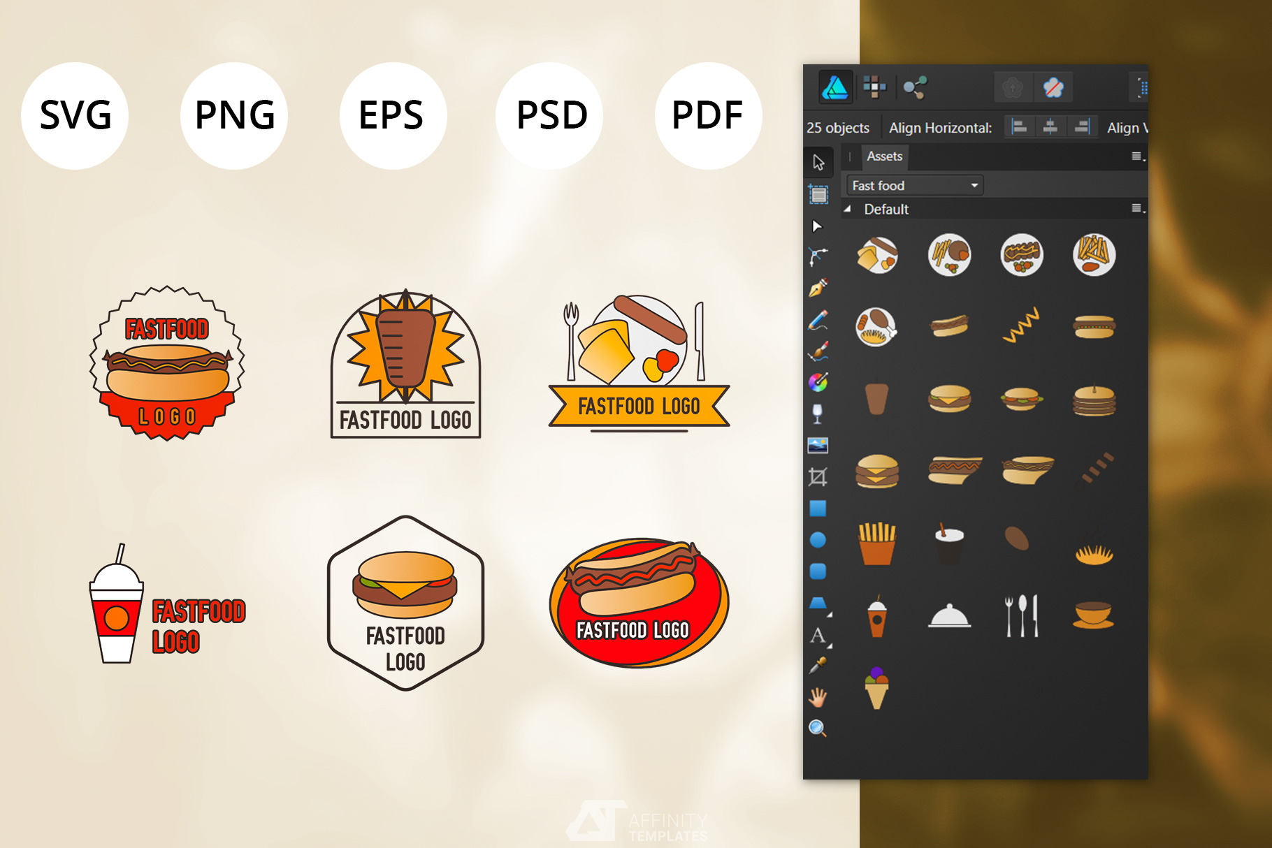 Fast Food Small Restaurant Logos example image 2