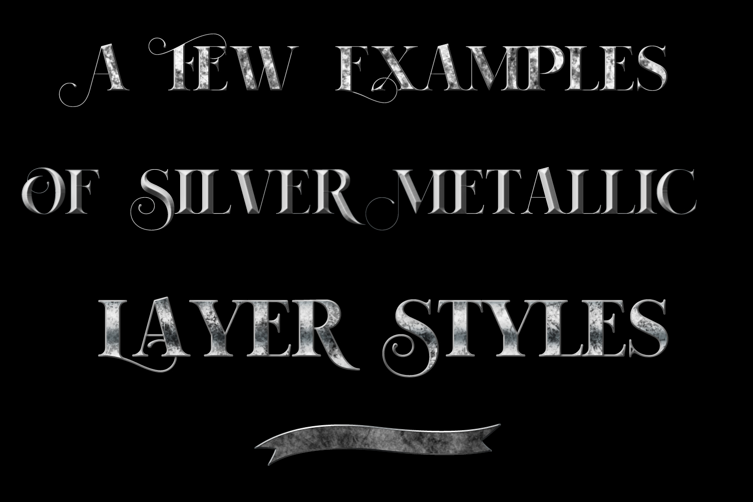 20 Silver Metallic Layer Styles example image 2