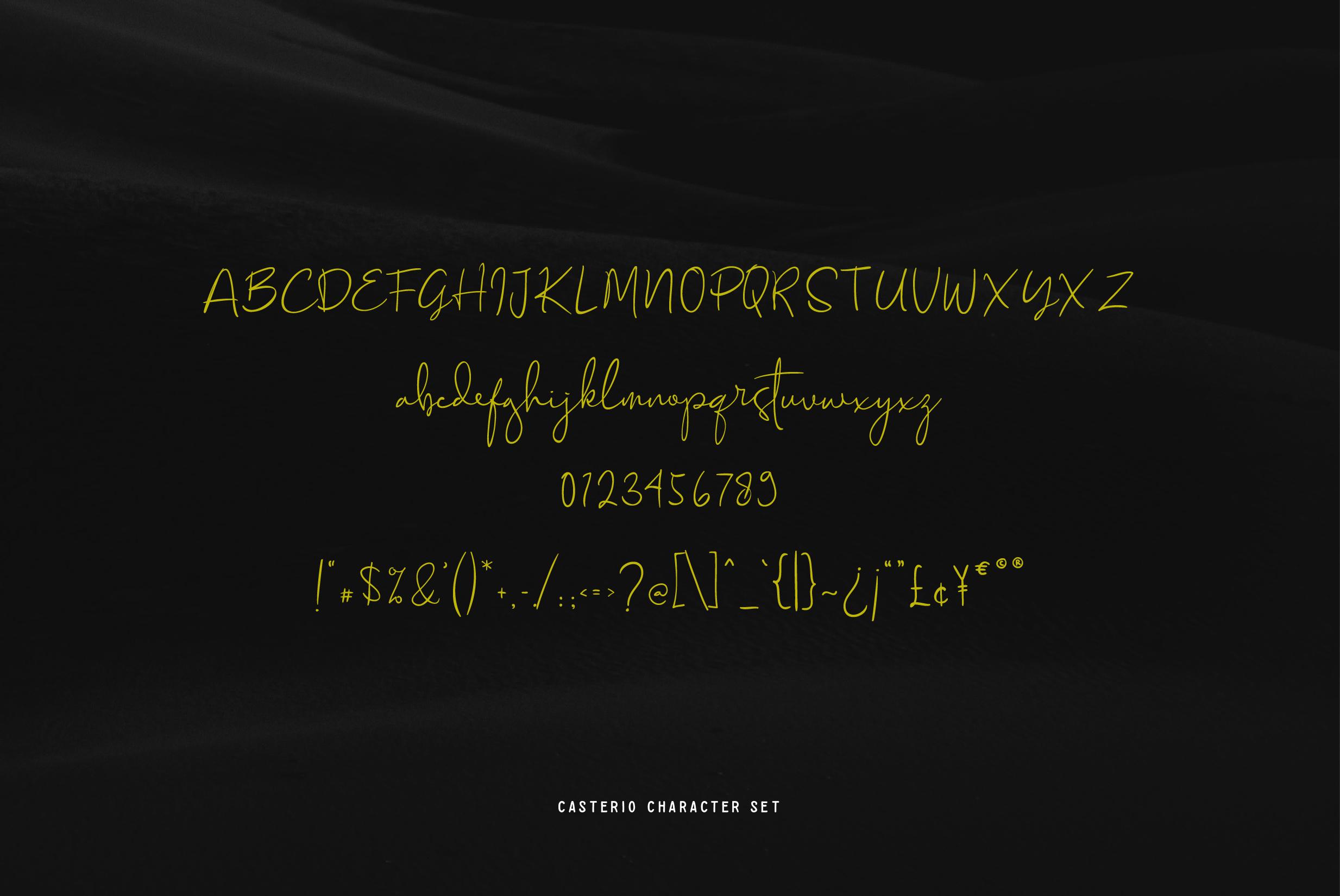 Casterio Signature Font example image 3