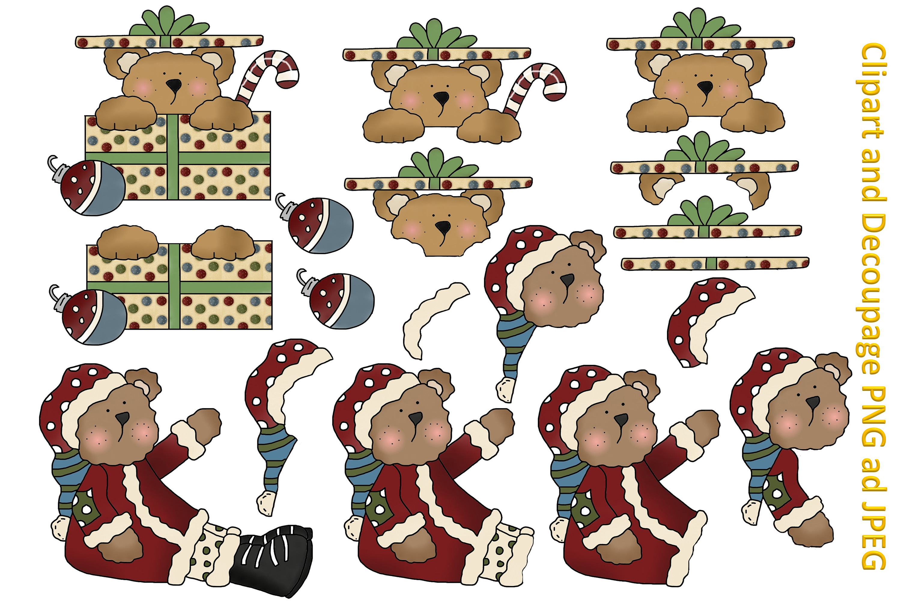 Christmas Crafts Bundle JPEG and PNG Commercial Use example image 3