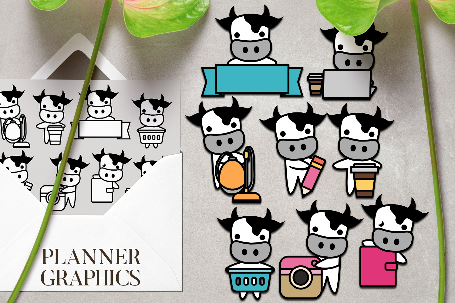 Chores Bundle - Animals characters clip art illustrations example image 7