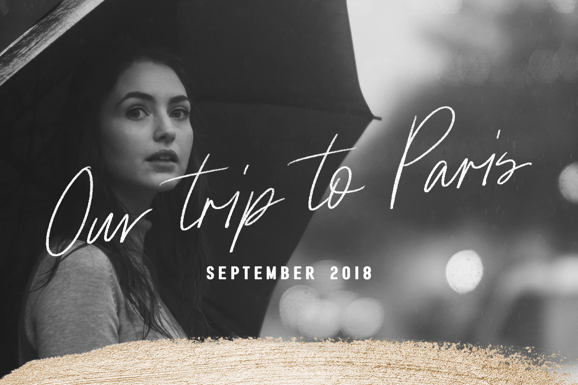 Paris | Font Duo  SVG with Extras example image 7