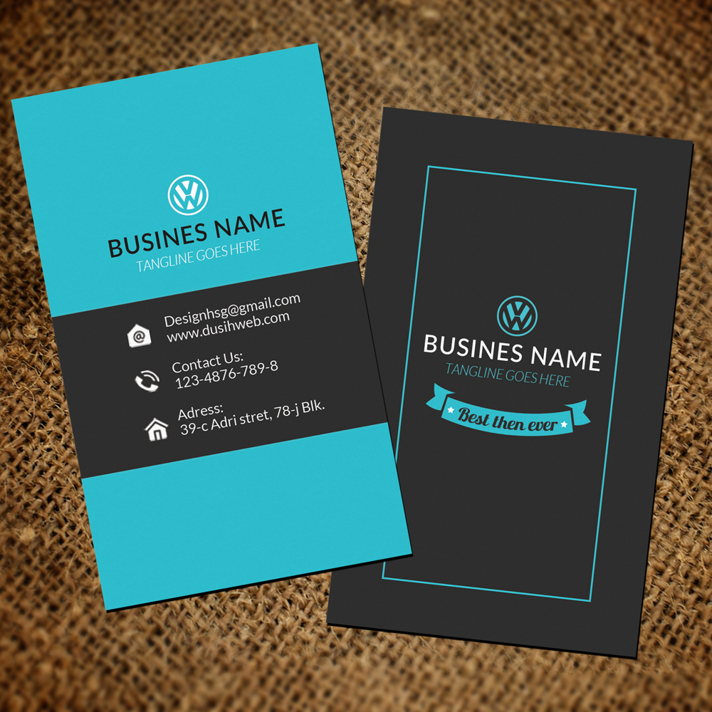 vertical business cards example image 3 - Vertical Business Cards