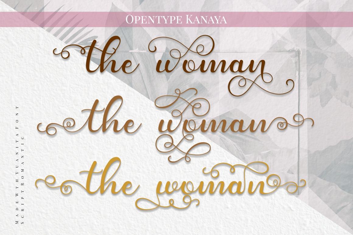 Kanaya - Romantic Font example image 7