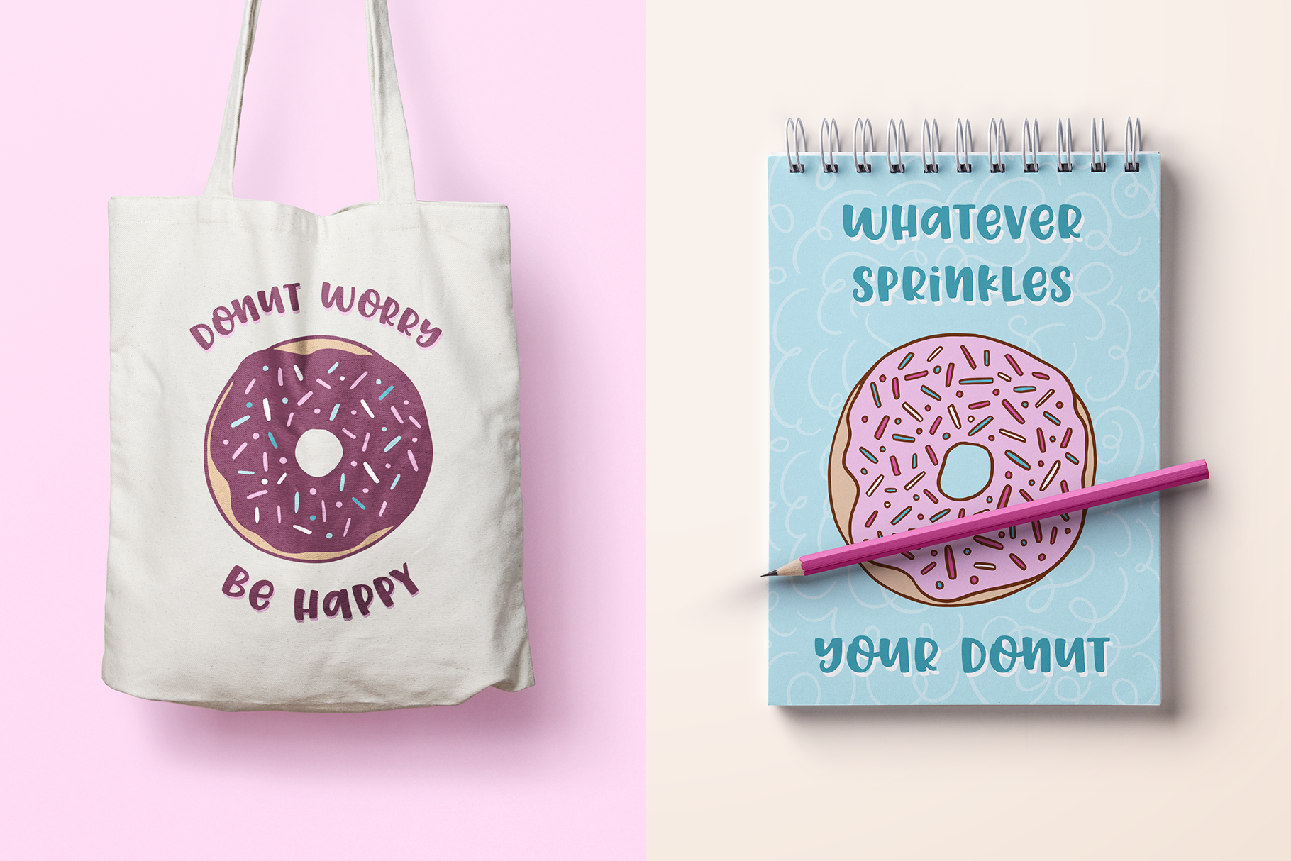 Donut Derby, a tasty caps font example image 6