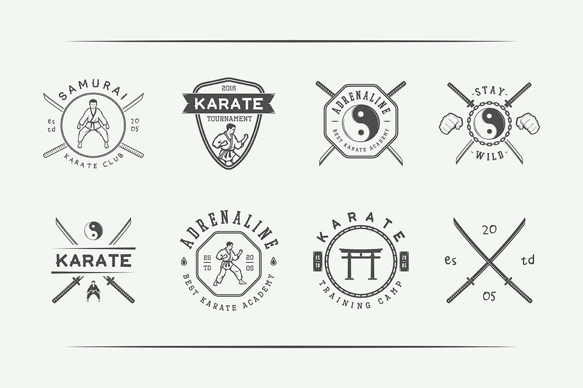 Vintage Karate Emblems Bundle example image 10