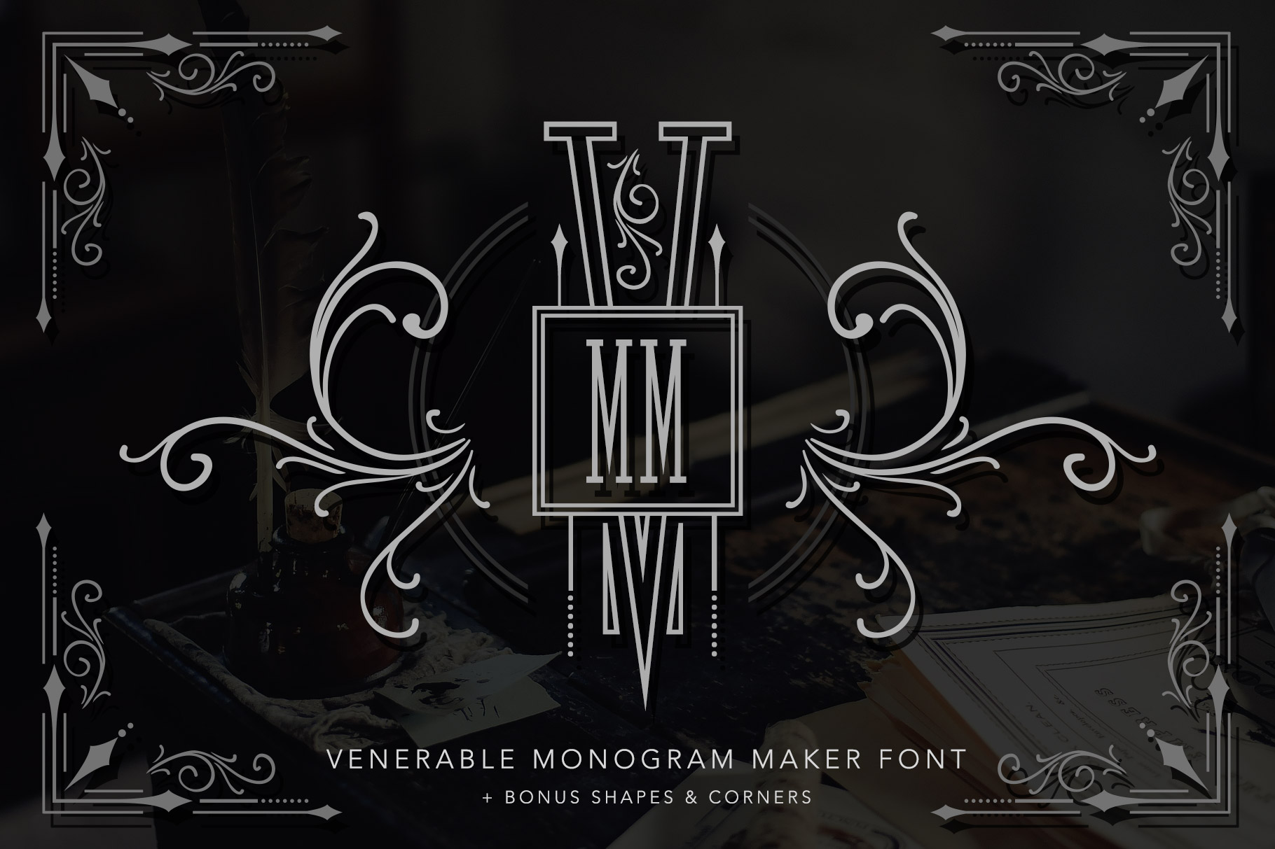 Venerable Monogram Maker Font example image 1