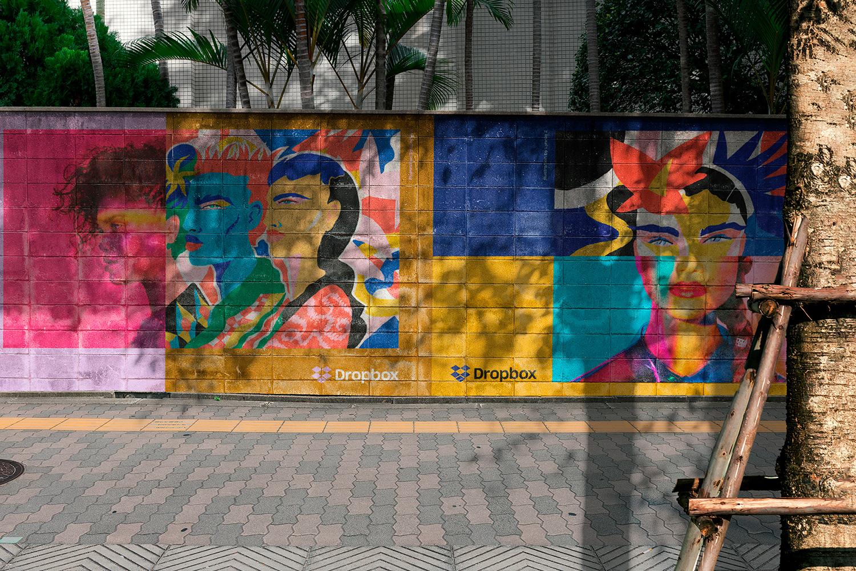12 Realistic Mural Street Mockup - PSD example image 8