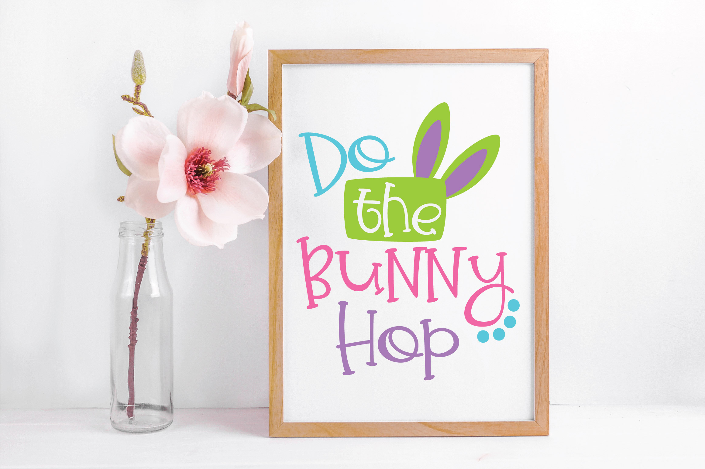 Easter SVG Cut File - Do the Bunny Hop SVG DXF EPS PNG AI example image 4
