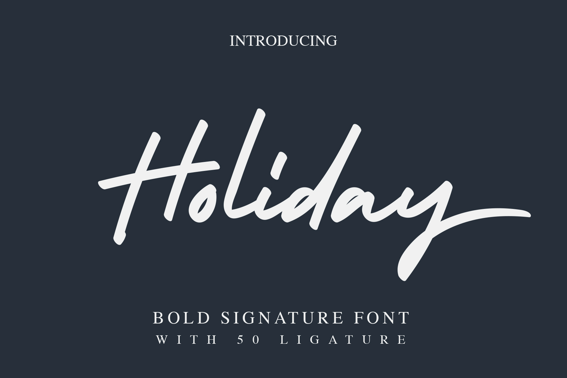 Holiday - Bold Signature Font example image 1