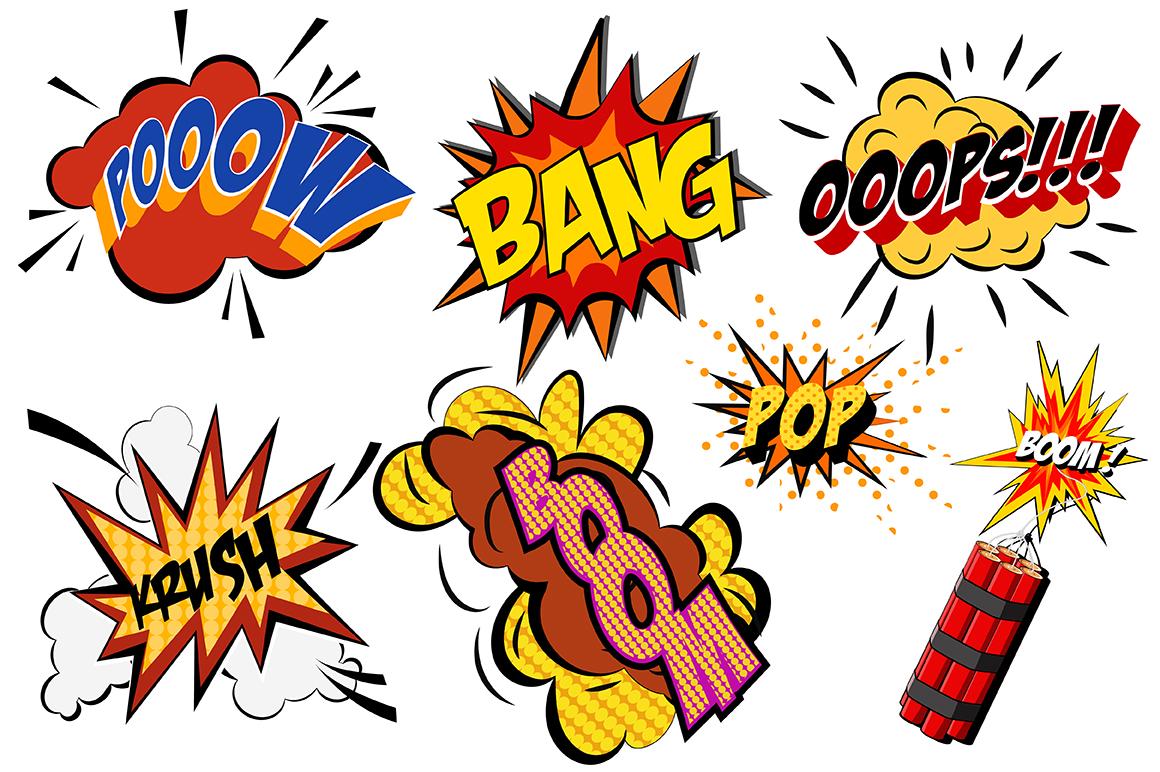 Comics pop art signs set_Vol.1 example image 2