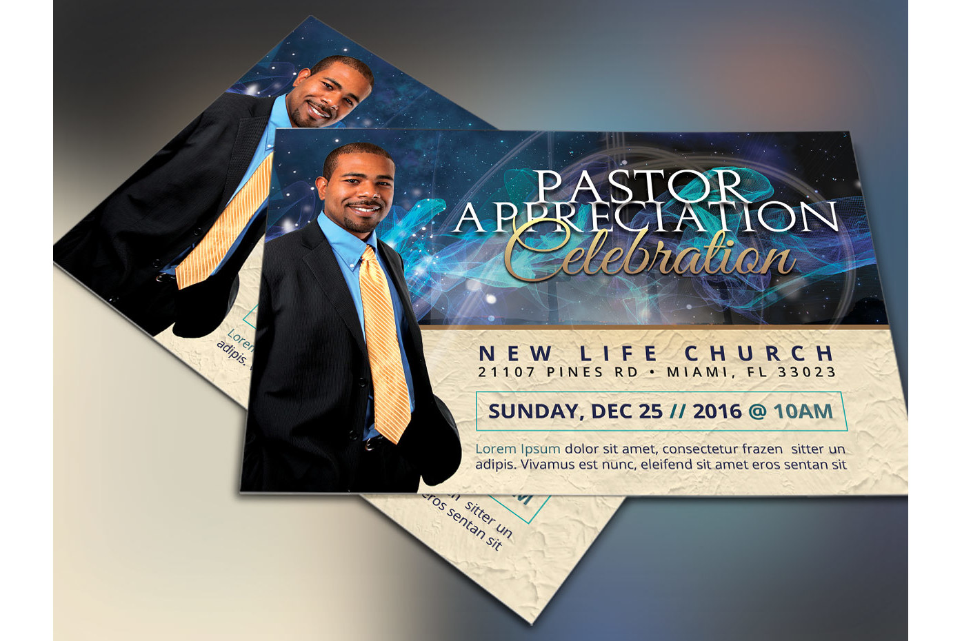 Starlight Pastor Anniversary Flyer Template Vol. 3  example image 1