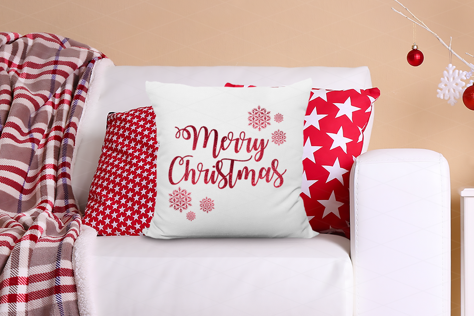 Christmas Pillow Mockup Bundle, Pillows Mock Up Bundle, JPG example image 5