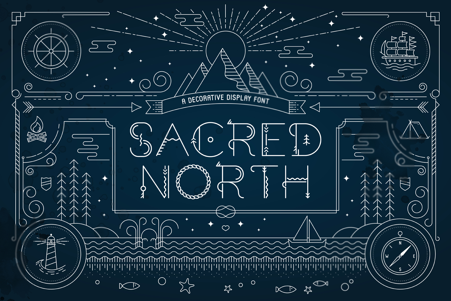 Sacred North Display Font example image 1
