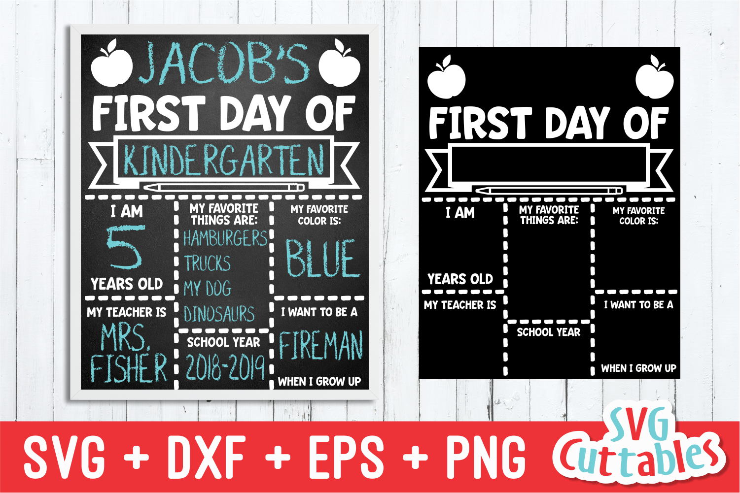 First Day of School Apple| SVG Cut File example image 1