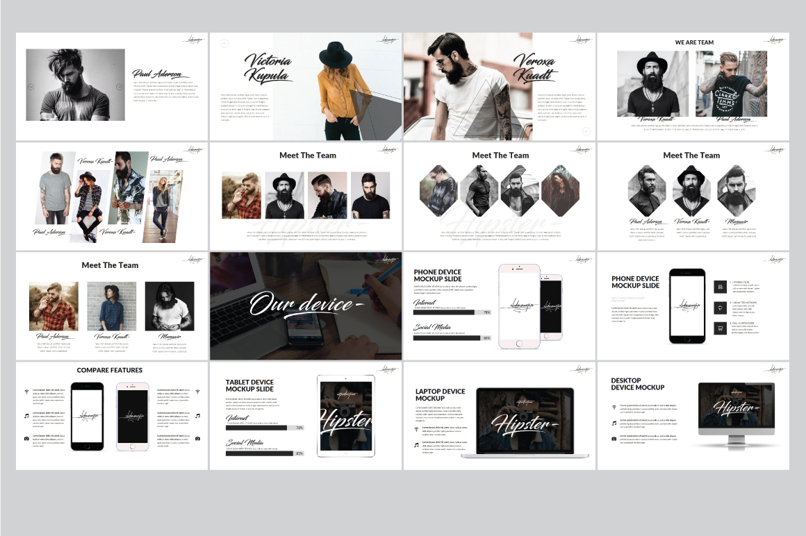Hipster v.2 Powerpoint Template example image 7