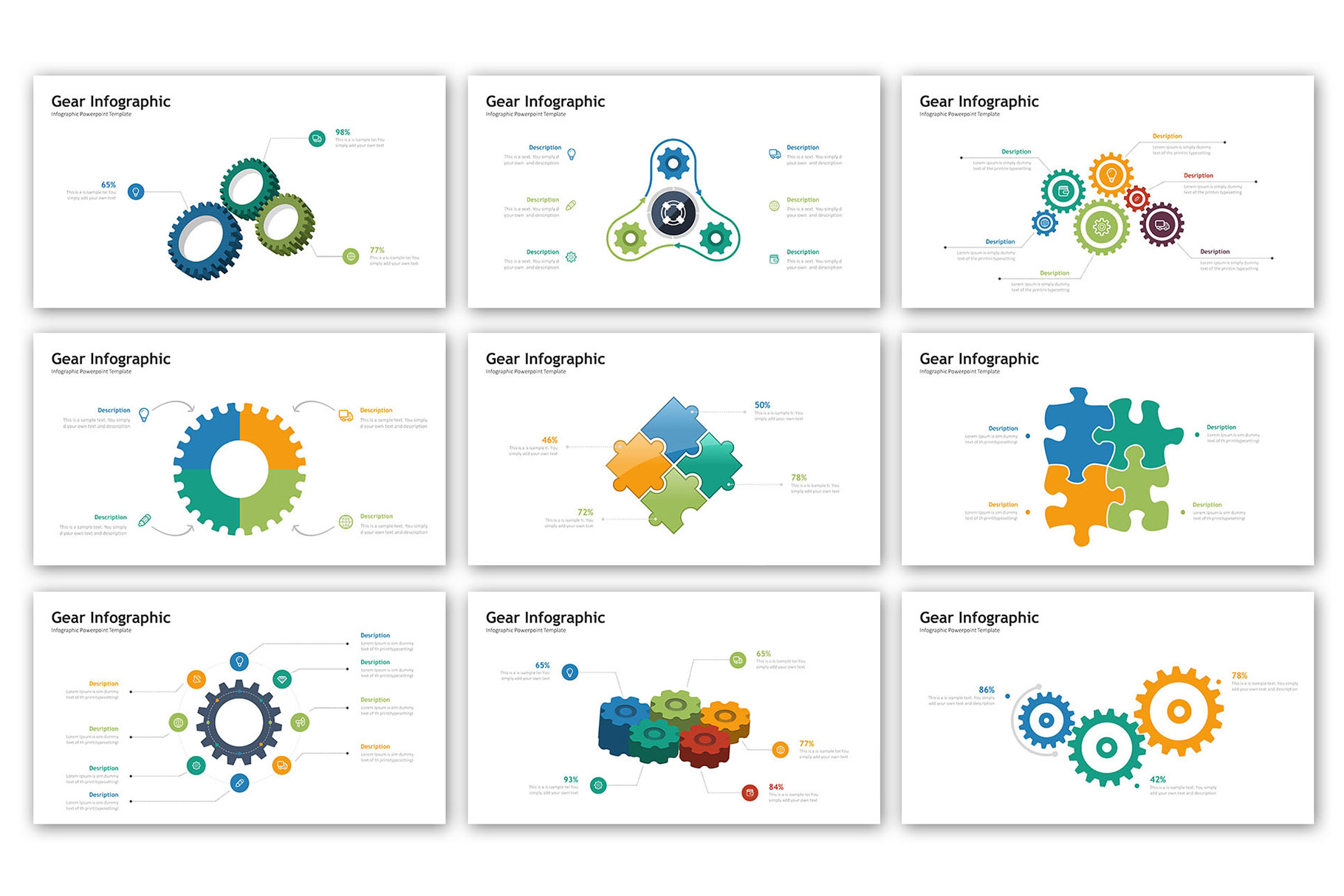 Gear Presentation - Infographic Template example image 4